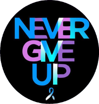 Never Give Up logo text